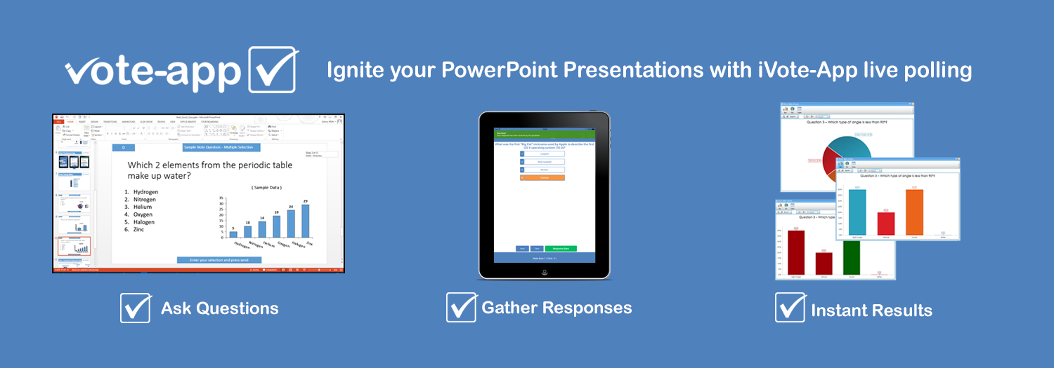 Interactive PowerPoint presentations with live audience